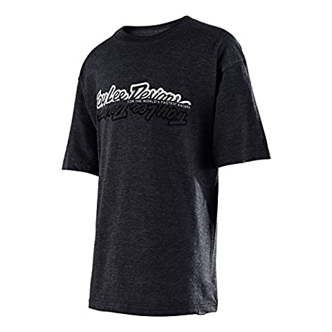 Troy Lee Designs - Troy Lee Designs Tee Shirt All Time Charcoal Htr Youth - Unicolor - L - Unicolor