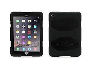 Etui de protection Survivor de Griffin ultra-résistant pour Apple iPad Air 2.Uniquement pour iPad Air-2.Cet étui de protection est ULTRA RESISTANT et conçu pour protéger efficacement votre iPad-Air2 quelque soit la situation.Testée et certifiée co...