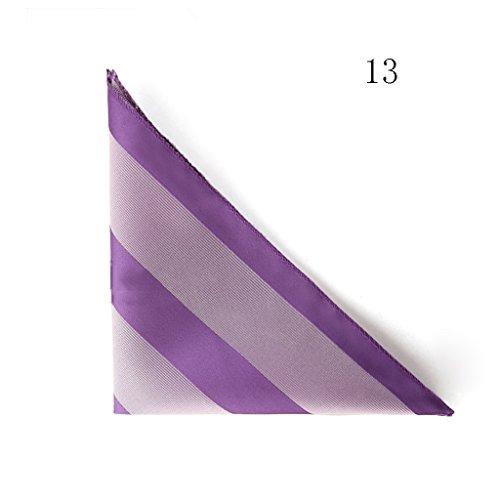 ZJM Mouchoir Carrée De Poche Costumes Pour Hommes Affaires Mariage 20 Couleurs Au Choix carrée Hanky ( Couleur : #06 ) #13