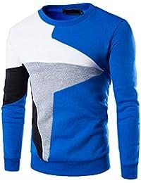 Suéter De Punto Jersey Gruesa Invierno De Punto Cálido Modernas Casual  Suéter De Cuello Redondo Suéter De Punto De Manga Larga… ec0effac9ad9
