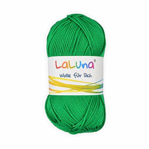 Basic Wolle hellgrün 100% Baumwolle 50g - 125m, Strick und Häkelgarn der Marke LaLuna® -