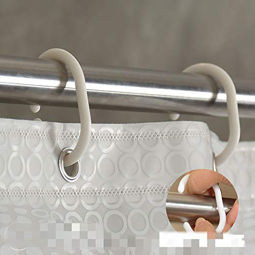oppinty Verdickung Peeling Duschvorhang Set Badezimmer Wasserdichte Punch Partition Vorhang Badezimmer Duschvorhang Weiß