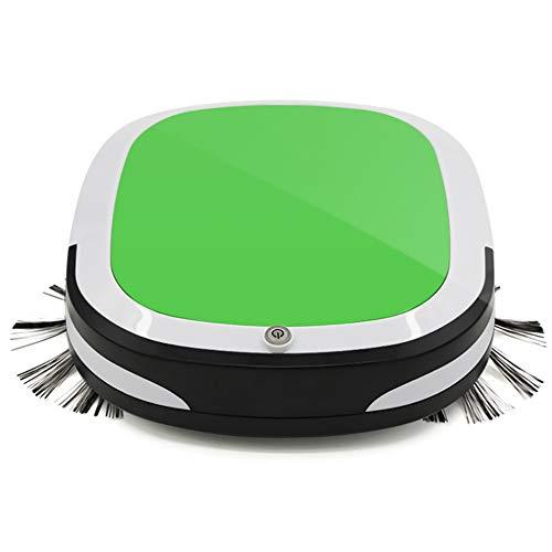 Aspirador Robot de barrido, ultrafino, barrido y barrido, robot de barrido inteligente hogareño (verde)