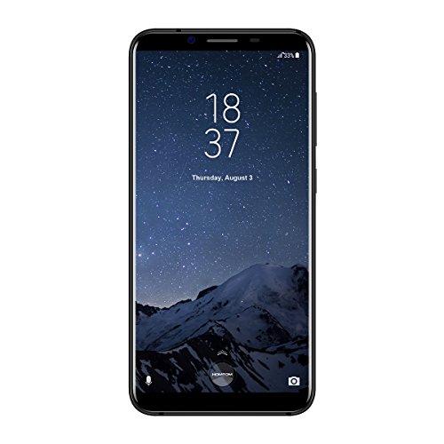 HOMTOM S8 - 5,7 Zoll 4G LTE Smartphone, Android 7.0 Octa Core 4GB + 64GB, Dual Hintere Kameras 16.0MP + 5.0MP mit Front 13.0MP, Dual SIM, Smart Geste, Schnelle Ladung, Entriegelte Handy, Schwarz