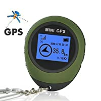 Podofo Mini Portable GPS Navigation Receiver with Key Chain for Camping Trip and Outdoor Sports