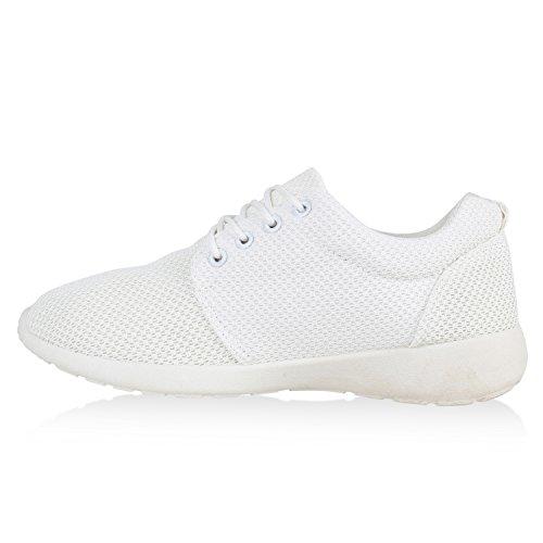 Modische Herren Sportschuhe | Freizeit Sneaker Snake | Laufschuhe Runners Trainers | Sneakers Schuhe Weiß