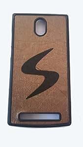 Lava Iris Alfa L Designer S Pattern Soft Back Case Cover Back Cover-BLACK IN BROWN