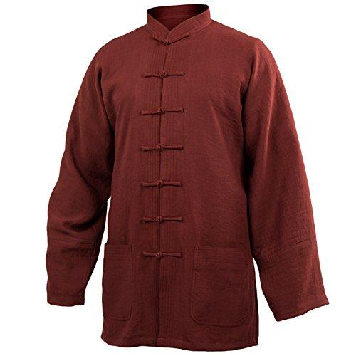 cotone-leggero-tai-chi-oberteil-collo-alto-taiji-shirt-tai-chi-tuta-kung-fu-wushu-bordeaux-korpergro