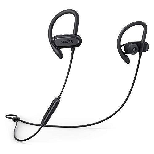 Soundcore Spirit X Bluetooth Kopfhörer, mit SweatGuard Technologie, 12 Stunden Akkulaufzeit, Super Halt und Fantastischem Sound, für iPhone, Samsung, Huawei und mehr(Zertifiziert und Generalüberholt)