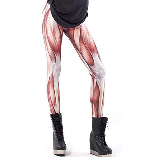 Alive Damen Supernova Einhorn Regenbogen-Leggings mit Digitaldruck, Einheitsgröße, Muskel-Design