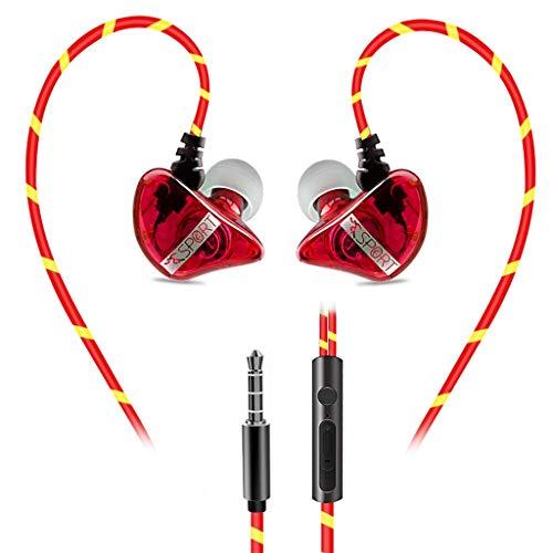 Nourich In-Ear-Monitorkopfhörer, 3,5-mm-Stereo-Bass-Telefon-Subwoofer, verkabelt mit Mikrofon Abnehmbarer Kopfhörer Hi-Fidelity Stage IEM Ohrhörer für Android/Windows/iOS