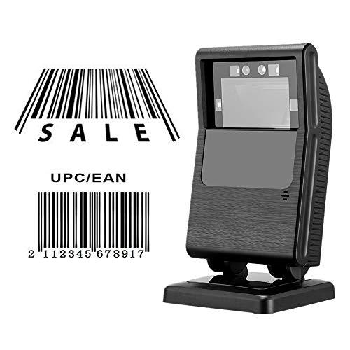 Omnidirektionaler Barcodescanner MUNBYN 1D / 2D CCD Scanner Automatischer Sensor Justierbarer Drehbar Kopfwinkel QR Scanner USB Schnittstelle Plug & Play -