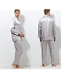 XQY Cómoda Pijama para el hogar Tienda de algodón con Bolsillos Albornoz - Primavera y otoño Hombres Pijamas de…