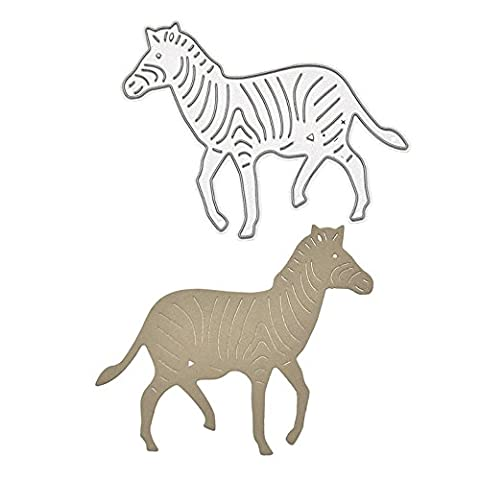 Enipate Animals Zebra Metal Cutting Dies for Scrapbooking Album Invitation Home Decoration Embossing Stencils Cut