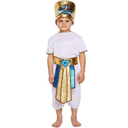 (Ägyptisch Tutankhamun Pharao King Hut Kinder Jungen Kostüm Halloween Buchwoche Outfit - EU 140-152)