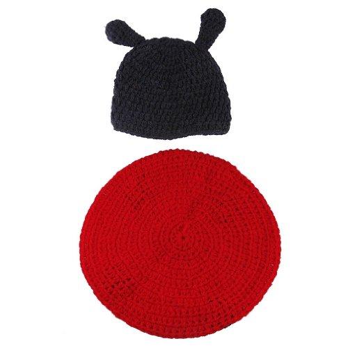 Imagen de v sol mariquita recién nacido algodón aminal beanie sombreros ropa disfraz fotografía proposición para bebé niño niña 3 6 meses