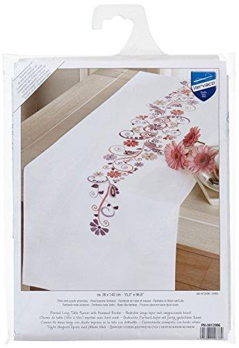 läufer Zärtlich Stickpackung/Läufer im vorgedruckten/vorgezeichneten Plattstich, Baumwolle, Mehrfarbig, 38 x 142 x 0.3 cm ()