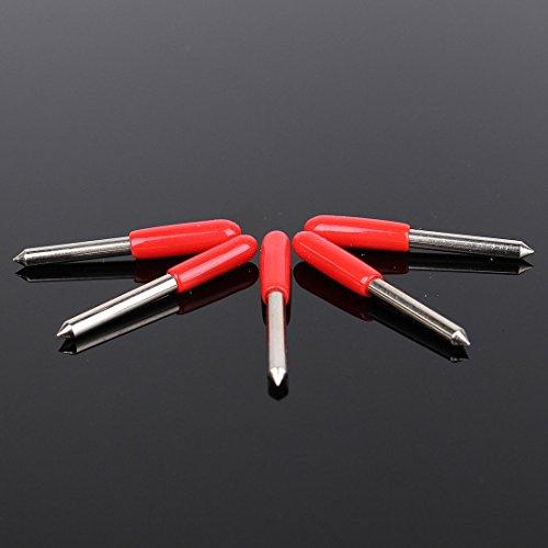 OUTERDO 5 Stück Plottermesser Schneidemesser 45 Grad Für Roland Cutter Schneideplotter - 2