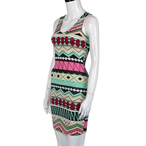 Femme Robe d'été Mode,Tonwalk Décontractée Mini robe Rose vif
