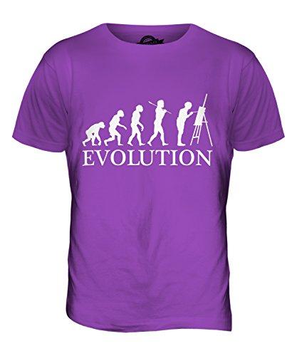 CandyMix Künstler Malerei Evolution Des Menschen Herren T Shirt Violett