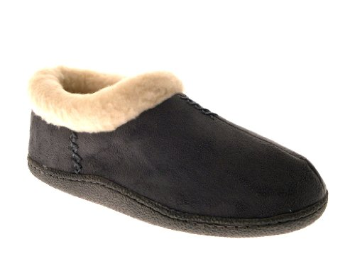 WOMENS SLIPPERS MULES SHORT ANKLE BOOTEES SLIP ONS LADIES GIRLS FAUX SHEEPSKIN SUEDE FUR LINED SLIPPER SHOES SIZE UK 3-8