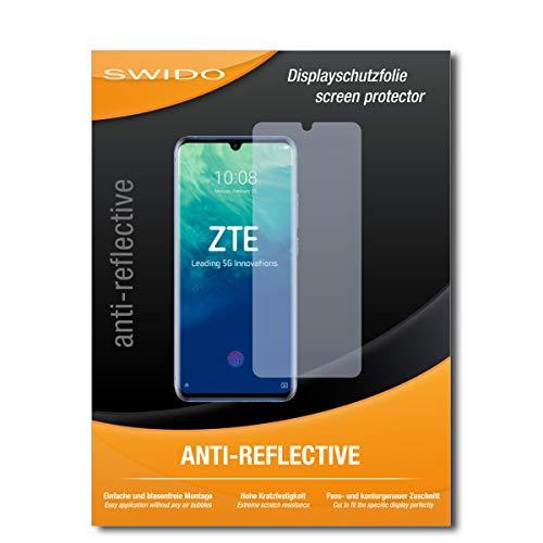 SWIDO Schutzfolie für ZTE Axon 10 Pro [2 Stück] Anti-Reflex MATT Entspiegelnd, Hoher Härtegrad, Schutz vor Kratzer/Folie, Bildschirmschutz, Bildschirmschutzfolie, Panzerglas-Folie