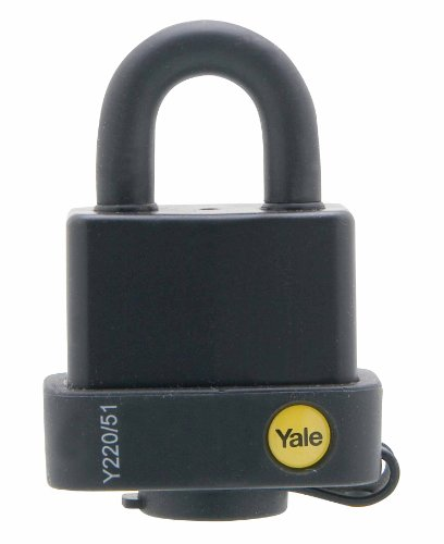 Yale Y220/51/118/1 Candado De Seguridad Resistente A La Intemperie, 51Mm, Negro