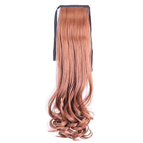 y Band Kunsthaar Extensions lang wellig Haarteil 50,8cm 50cm 7Farben Pferdeschwanz versandkostenfrei (Günstige Afro Perücken Für Verkauf)