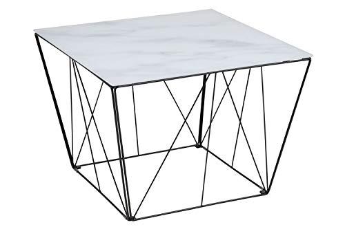 Couchtisch Squar Glastisch Beistelltisch Wohnzimmer Tisch Marmor Print