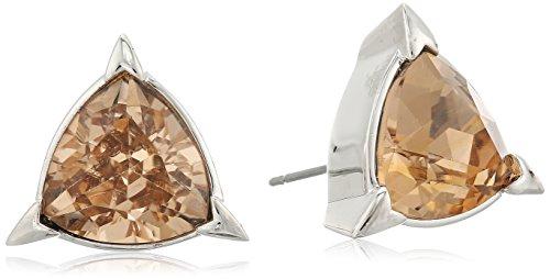 nicole-miller-trilliant-trillion-rhodium-stud-earrings