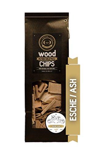 Grillgold Wood Smoking Chips – copeaux de bois d'frêne pour fumage 1,75 Liter