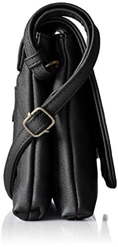 Borsa A Tracolla Mir Tail A Tinta Unita, 5x15x23,5 Cm Nero (nero)