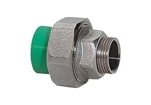 "Aqua-Plus - PPR Rohr Kupplung AG Messing d = 40 mm x DN 32 (1 1/4""), grün"