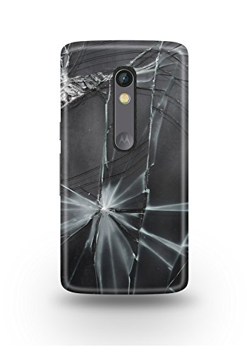 Moto X Play Cover,Moto X Play Case,Moto X Play Back Cover,Broken Glass Moto X Play Mobile Cover By The Shopmetro-12295