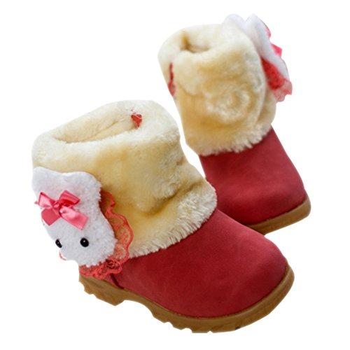 taiyc yxgan bébé fille Chaussures Hiver Chaud Mignon LAPIN neige Bottes bébé Boots (9–90mois Kids) Rouge