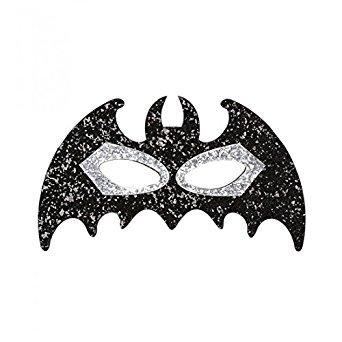 Widmann-WDM04135 Erwachsenenkostüm Unisex, Schwarz/Silber, - Batman Girl Kostüm Maske