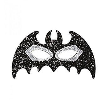 Widmann-WDM04135 Erwachsenenkostüm Unisex, Schwarz/Silber, WDM04135 (Batman Girl Kostüm)