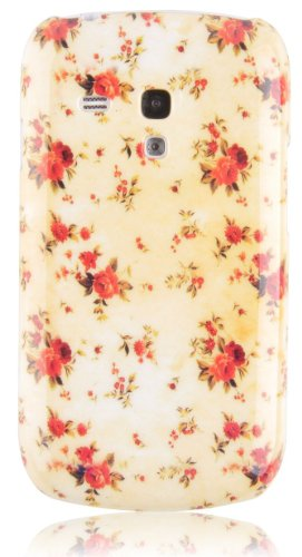 JAMMYLIZARD | Custodia Vintage Cover Retrò per iPhone 4 e 4S CUPCAKES Floreale Giallo