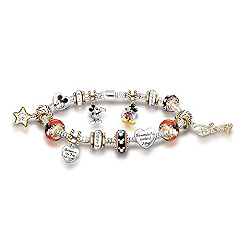 Walt Disney 110th Anniversary Mickey Mouse Charm Bracelet by The Bradford Exchange