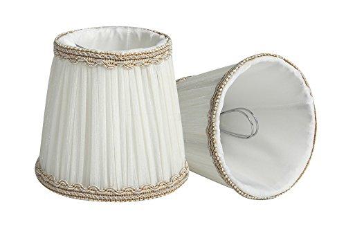 Splink 2pcs Paralume in tessuto paralumi per lampada da soffitto 85*120*110mm - Tessuto Abbellire