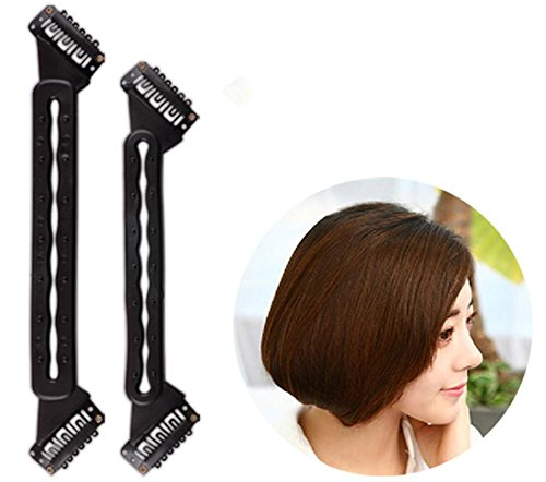 XYLUCKY 10 Packungen BOBO Kopf PVC Haarspangen Zwei Enden können Haarnadelfixierung Werkzeug (5 große und 5 kleine) (Roll-klettverschluss 1 Zoll 2)