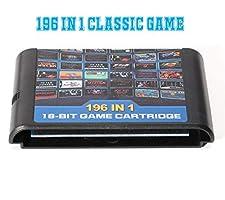 Xcylive Genesis Game Cartridge 196 in 1 For Sega Mega Drive Genesis Console 16 bit Game Card