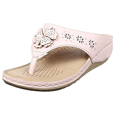 775336487cb3 XE Looks Synthetic Leather Doctor Sole Slippers for Women (Light Pink)