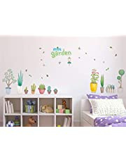 Amazon Brand - Solimo Wall Sticker for Kid's Room (Mini Garden, Ideal Size on Wall - 135 cm x 72 cm)