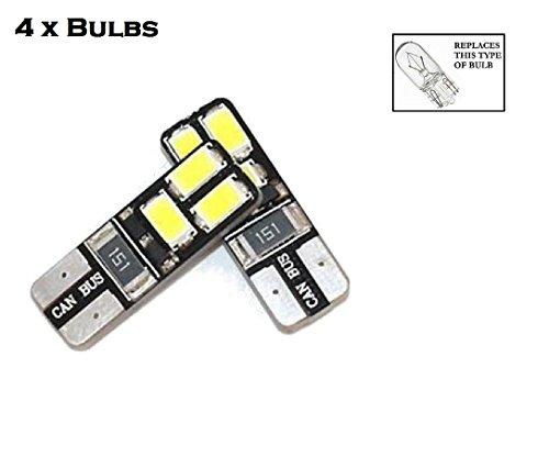 C63[2Pack] Premium High Power 501/W5W Standlicht/innen/Nummernschild Glühlampen-Set. 360Grad Licht. 3x CREE Chip-Weiße Licht. CANBUS/Fehler frei. -