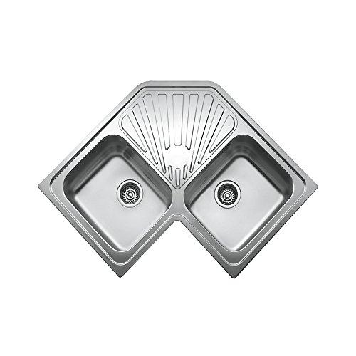 Teka Edelstahl Spüle Küchenspüle Spültisch Spülbecken Einbauspüle mit zwei Becken, Angular MTX