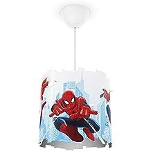 Philips Marvel Spiderman - Lámpara colgante, iluminación interior, luz blanca cálida, plástico, color blanco