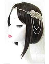Silver Chain Headpiece Vintage 1920s Flapper Great Gatsby Headband Diamante R80 *EXCLUSIVELY SOLD BY STARCROSSED BEAUTY* by Starcrossed Beauty