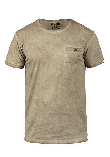 !Solid Teil Herren T-Shirt Kurzarm Shirt mit Rundhalsausschnitt aus 100% Baumwolle, Größe:XL, Farbe:Dune (5409) (Kurzarm Vintage Poloshirt)