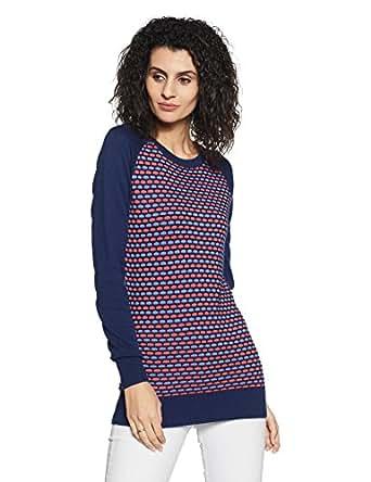 Puma Women's Sports Knitwear (56908002_Medieval Blue_Small)